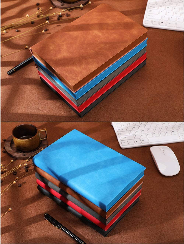 ZSQQSCL Cuadernos,Business Classic Notebook Thicken 360 P/áginas Diario Azul Elegante Lado P/áginas Forradas De Diario Cubierta Suave De Cuero De Terciopelo Bloc De Notas /Útiles///Esc