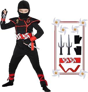 Ninja Costume Halloween Kids Costume Ninja Muscle Costume With Ninja Foam Accessories for Boys Child