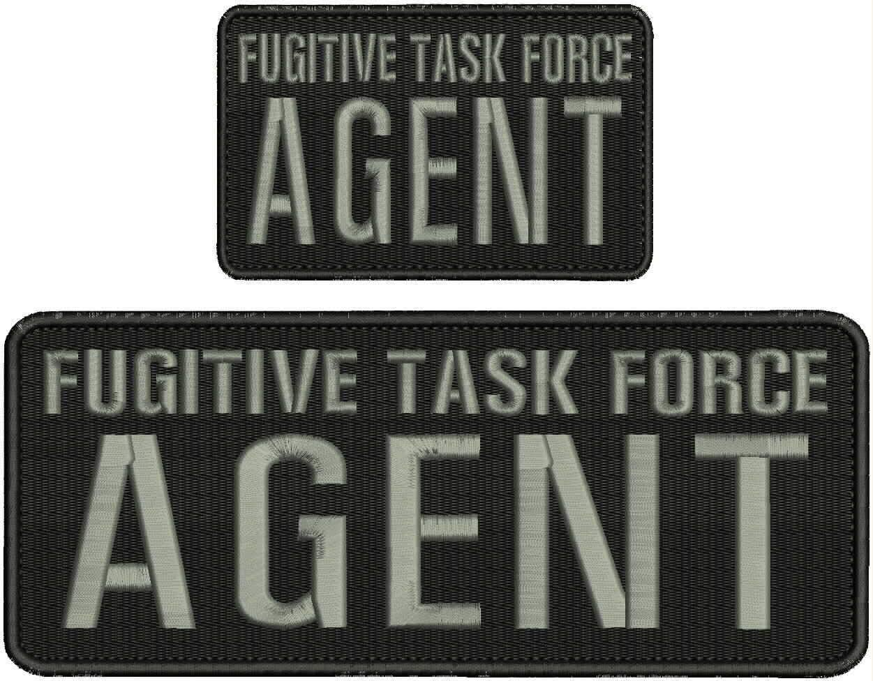 Fugitive Task Force Agent Embroidery Patches 4x10 and 3x8 Hook G