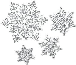 Demiawaking Stencil con motivo a renna di Natale, per creare albi di ritagli, cartoncini sagomati, diari e progetti creativi manuali fai da te, Acciaio al carbonio, Christmas Snowflake