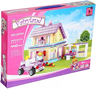 Ausini FairyLand House Construction Toy For Kids, 440 Pieces - Multi Color - 2725604424745 , 2725604424745