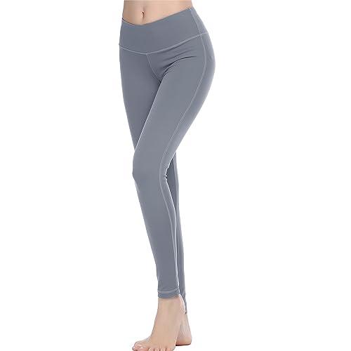 8b7ac2f310 Oalka Women Power Flex Yoga Pants Workout Running Leggings