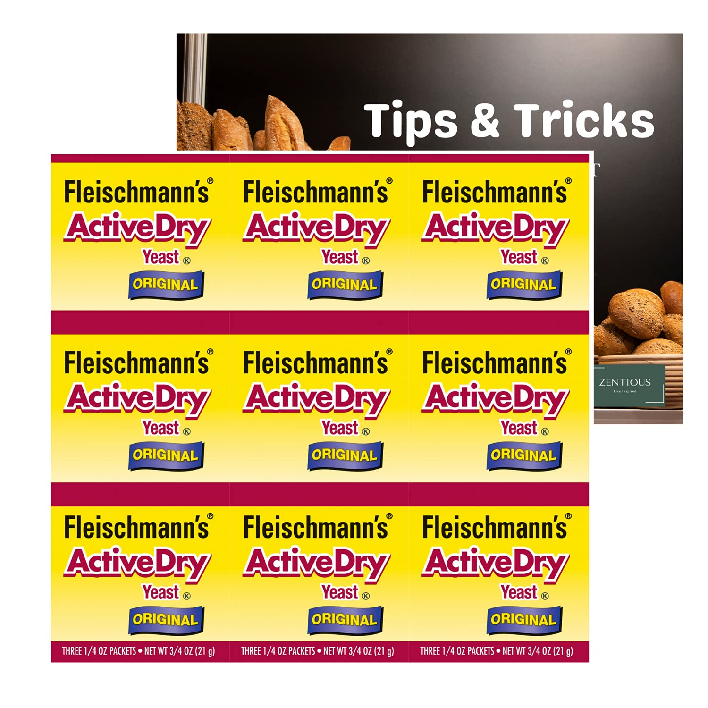 Fleischmanns Active Dry Yeast Original store Packets of 9 - Save money Pack Indiv