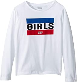 Long Sleeve Graphic Knit Top (Little Kids)