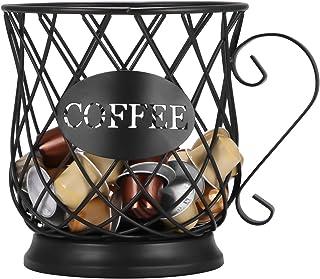 UNISOPH Panier de rangement pour capsules de café, support pour poubelles multiples, support de rangement de cuisine de pl...