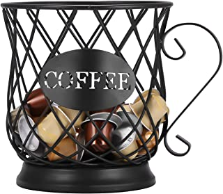 Panier de Rangement pour Capsules de Café, UNISOPH Support de dosette Multiple, Support de Rangement de Cuisine de Comptoi...