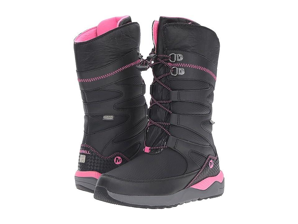 Merrell Kids Artic Blast Waterproof Tall Boot (Toddler/Little Kid) (Black/Pink WPF Synthetic) Girls Shoes