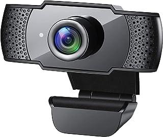 1080P Webcam, HD PC Webcam USB Mini Computer Camera Built-in Microphone - USB Web Camera for Live Streaming, Video Calling...