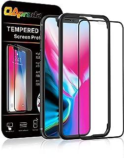 OAproda iPhone X/iPhone XS 全面保護フィルム 強化ガラス 液晶画面フルカバー【99%以上のケースに干渉しない】専用ガイド枠付き/存在感ゼロ/画面鮮やか高精細(アイフォンX/XS 用 フィルム)