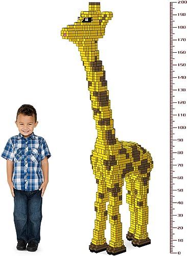SEIGNEER Giraffenbau-Set, Lernspielzeug, 1362 Teile, 200 x 85 x 27 cm