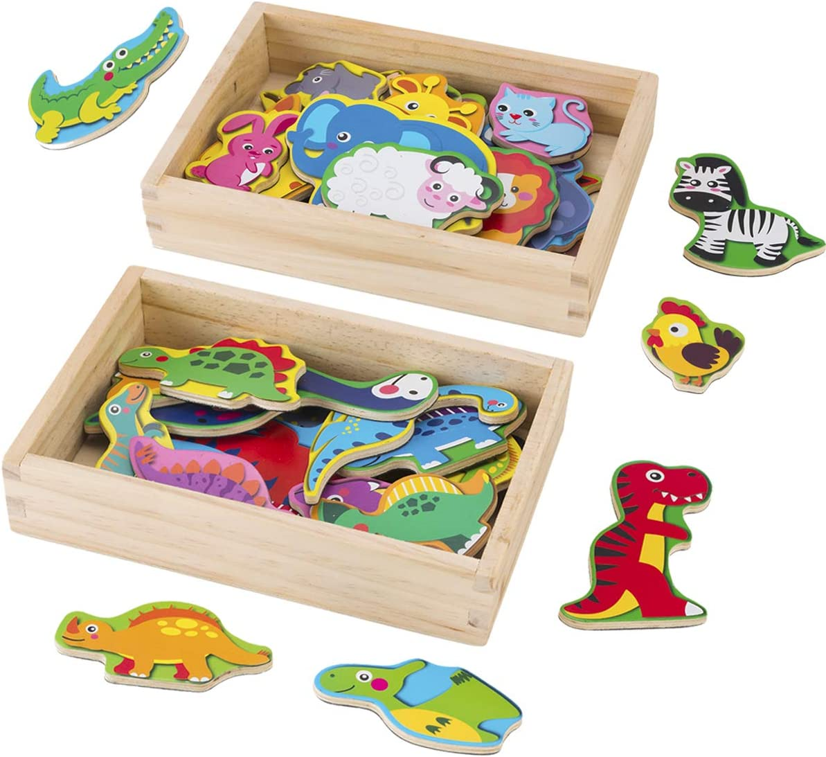Animal Fridge Max 47% OFF Magnets for Toddlers 38 Dinos Zoo Animals Max 65% OFF Pcs and