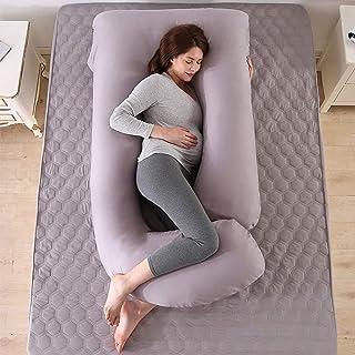 Ylight Oreillers De Grossesse pour Dormir, avec Housse en Velours Remplaçable Et Lavable,180X80x17.5Cm,with Cotton Pillowc...