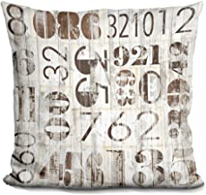 LiLiPi Weathered Numbers I Decorative Accent Throw Pillow