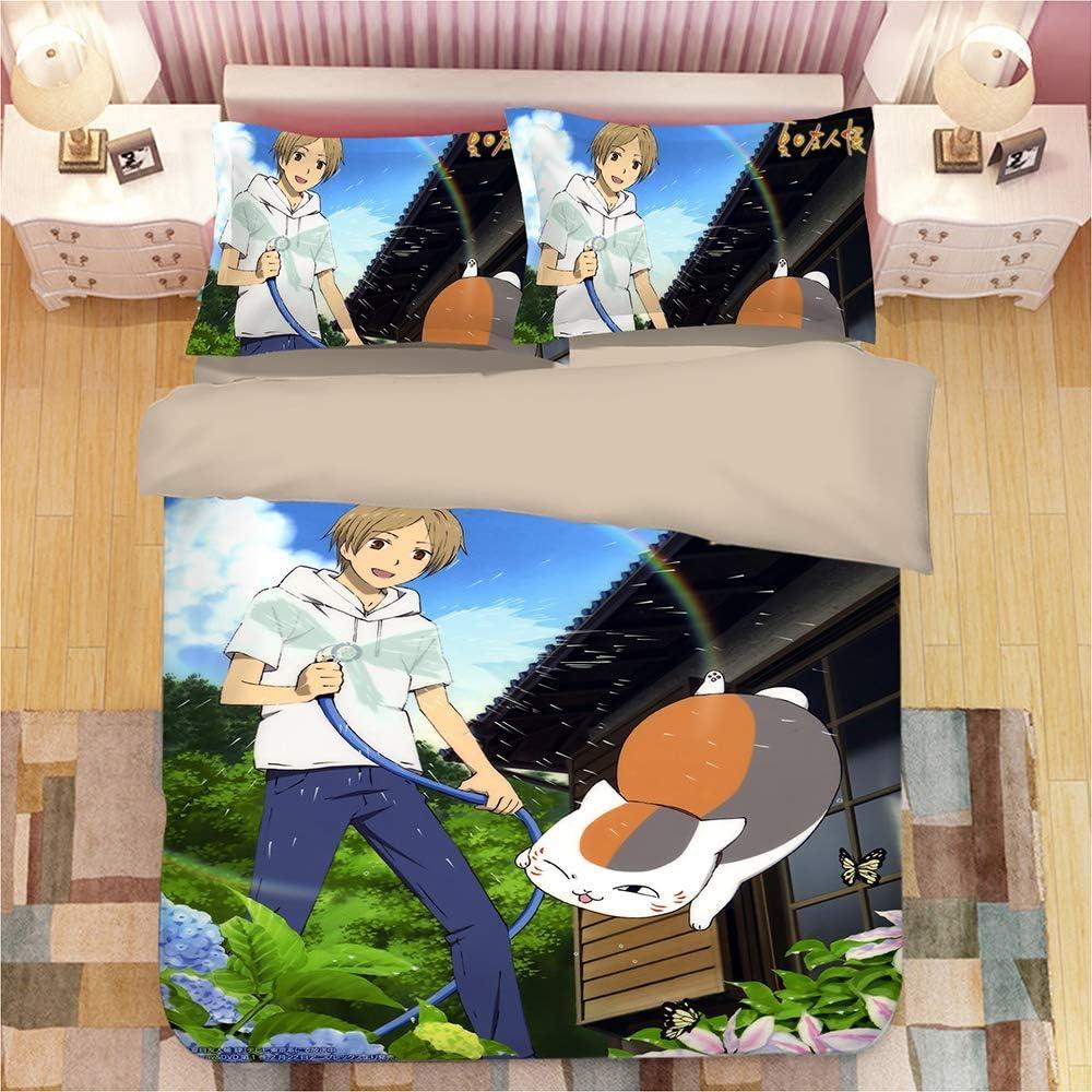 Canvas Housse de Couette et Taie d'oreiller 3D Anime Japonais One Piece Impression Enfant Garçon Les Jeunes Parure de lit,King Auqueen