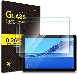 Luibor Huawei MediaPad T5 10 Tablet Protector de pantalla de vidrio templado Ultra-thin 9H Dureza y la más alta calidad HD clear Protector de pantalla de vidrio para Huawei MediaPad T5 10 Tableta (2 piezas)