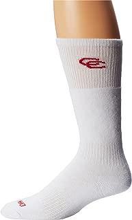Dan Post Women's Dan Post Cowgirl Certified Over the Calf Socks 4 pack White Socks 9 (Women's Shoe 7-9.5)