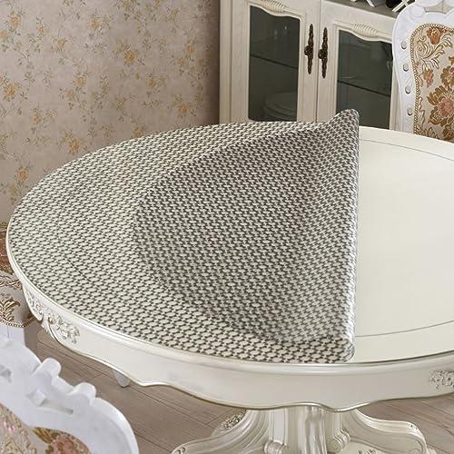 LHL-ZQ QWM-Extra Größe Tischdecke Tischdecke, Wasserdicht Crystal Plate Couchtisch Tuch PVC Tischdecke schwarz Dot Style 1mm QWM-Tischtuch (Größe   Round-140cm)