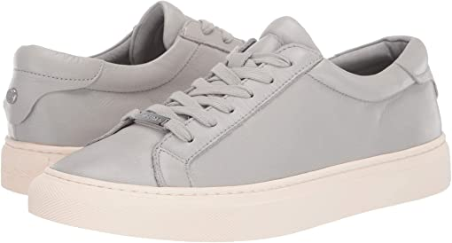 Grey Embossed Leather
