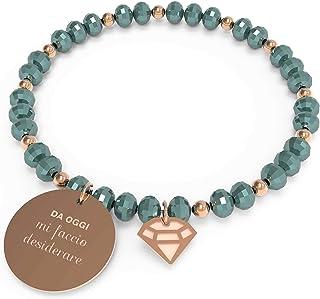 10 Buoni Propositi Bracciale Donna desiderare Collezione Crystal Rose Gold