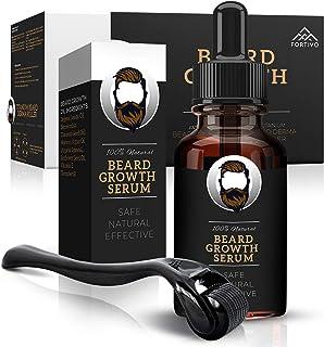 Derma Roller for Beard Growth - Beard Growth Serum, Beard Kit for Men - Micro Needle Roller for Face and Dermaroller for H...