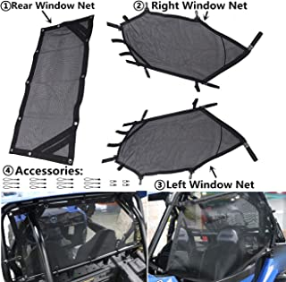 MFC UTV Window Net Roll Cage Mesh Guard Front Rear Right and Left Window Shade Shield Net Cover Door Scratch Prevention for Polaris RZR 570 800 1000 900 RZR XP 2015-2019