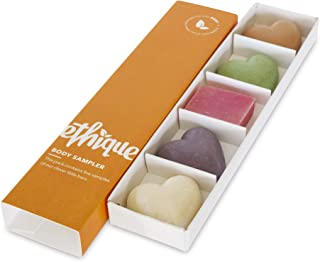 Ethique Eco-Friendly Body Sampler, 5 Piece Variety Pack Beauty Bar Set (Body Range Collection), Sustainable Natural Body Kit, Plastic Free, Vegan, Plant Based, 100% Compostable and Zero Waste, 5 bars