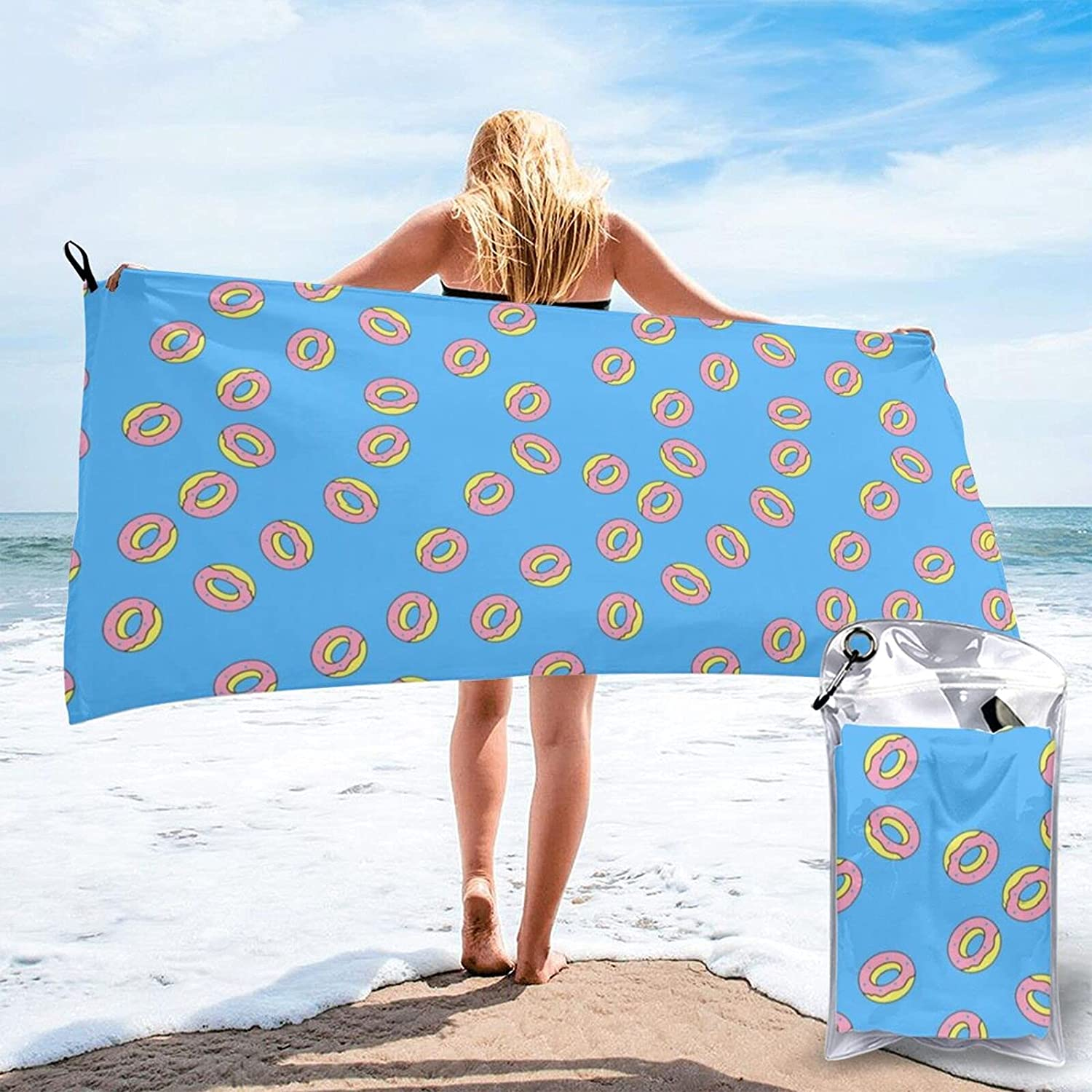 Popular products NiYoung Bath Easy-to-use Towels Donut Food Wash Polyest Pattern Cloths 100%