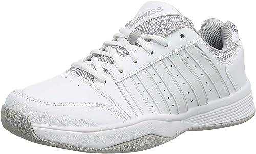 K-Swiss Perforhommece Court Smash Carpet WHT High-Rise-m, Chaussures de Tennis Femme