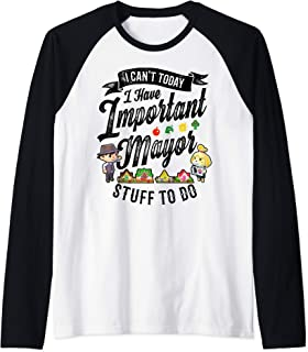 Animal Crossing Important Mayor Stuff Raglan Baseball Tee