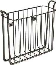 InterDesign Classico Wall Mount Wire Magazine Rack for Bathroom, Office, Den – Pack of 2, Bronze