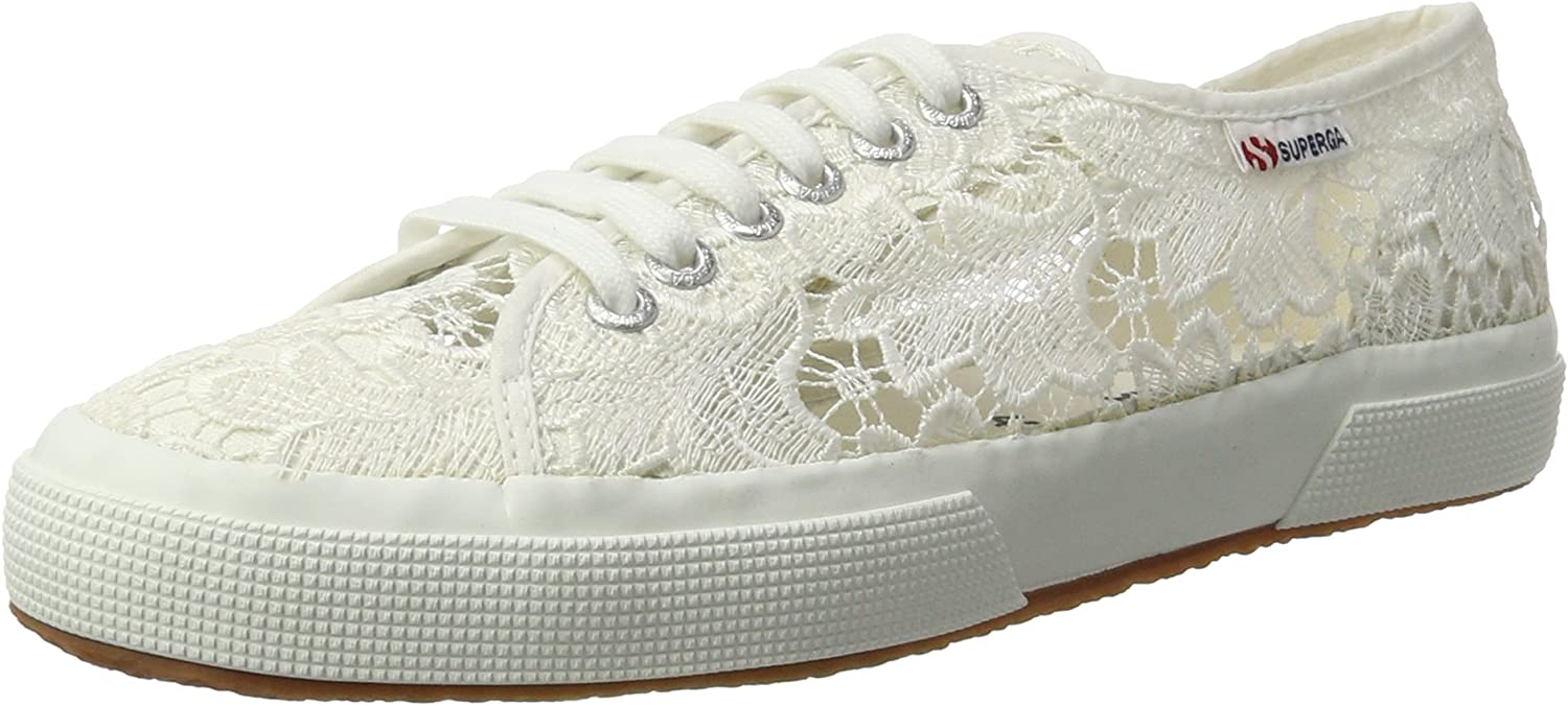 Superga 2750 Macramew, Women's Low-Top Sneakers Low-Top Sneakers, White (White), 5 UK (38 EU)