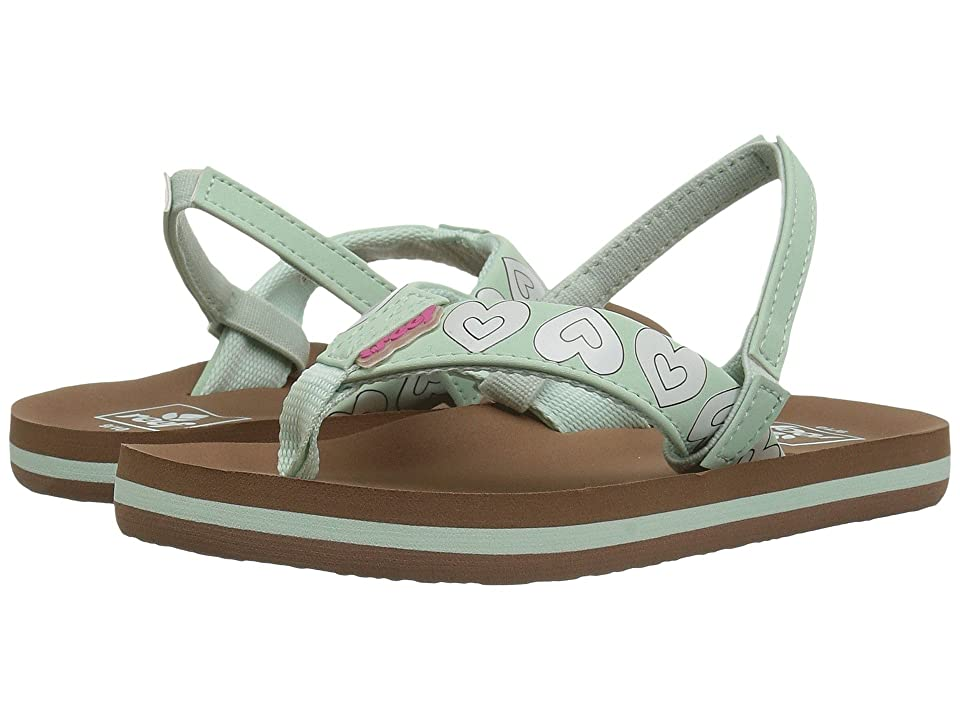 Reef Kids Little Ahi Color Change (Infant/Toddler/Little Kid/Big Kid) (Mint Hearts) Girls Shoes