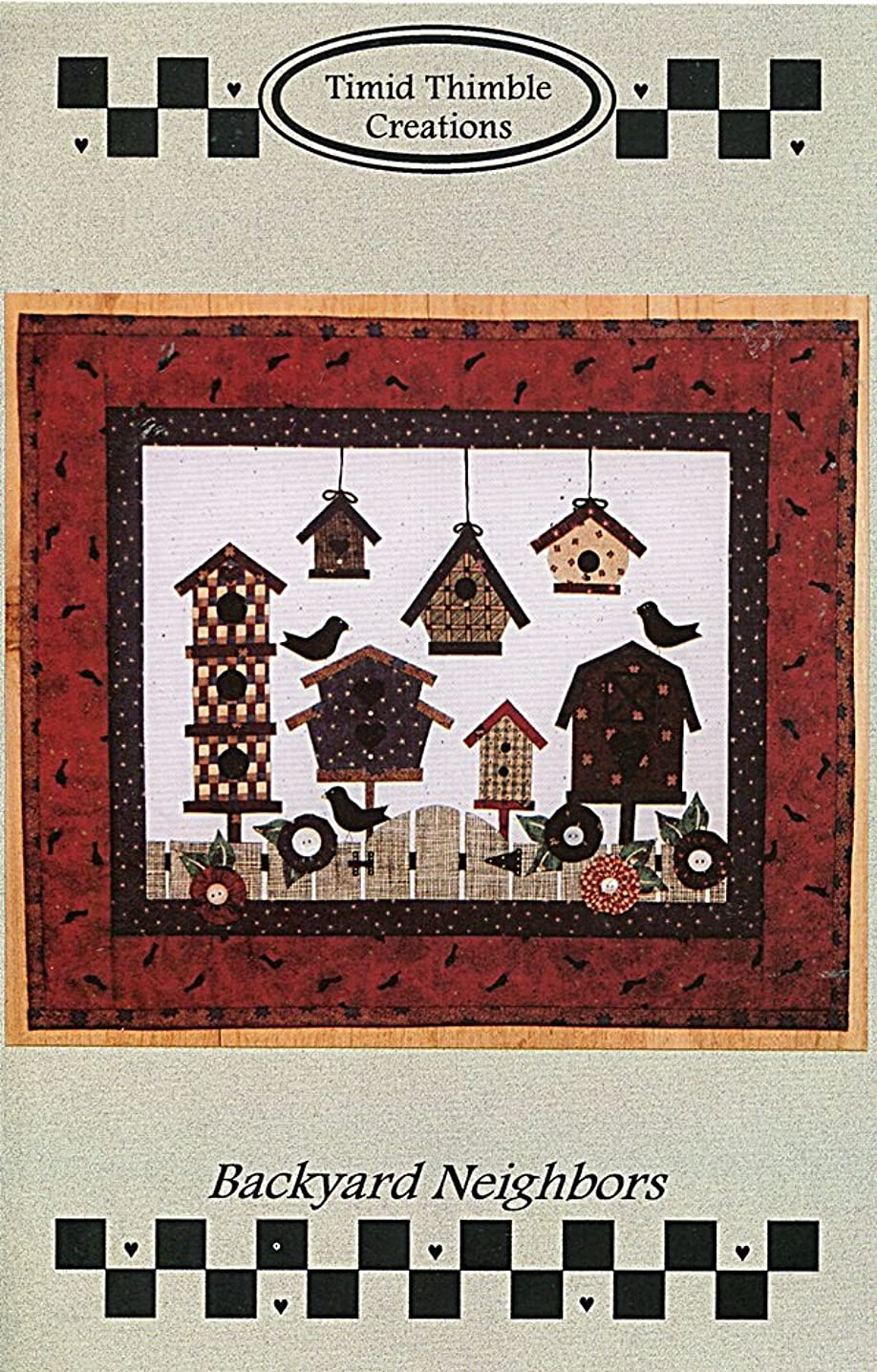 Timid Thimble Creations Pattern ~ Backyard Neighbors Birdhouse Wallhanging