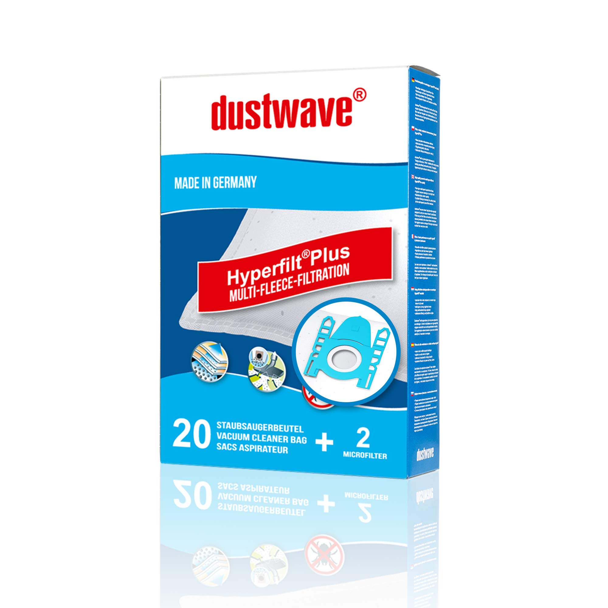 dustwave® Megapack – 20 bolsas para aspiradoras Siemens – Super ...