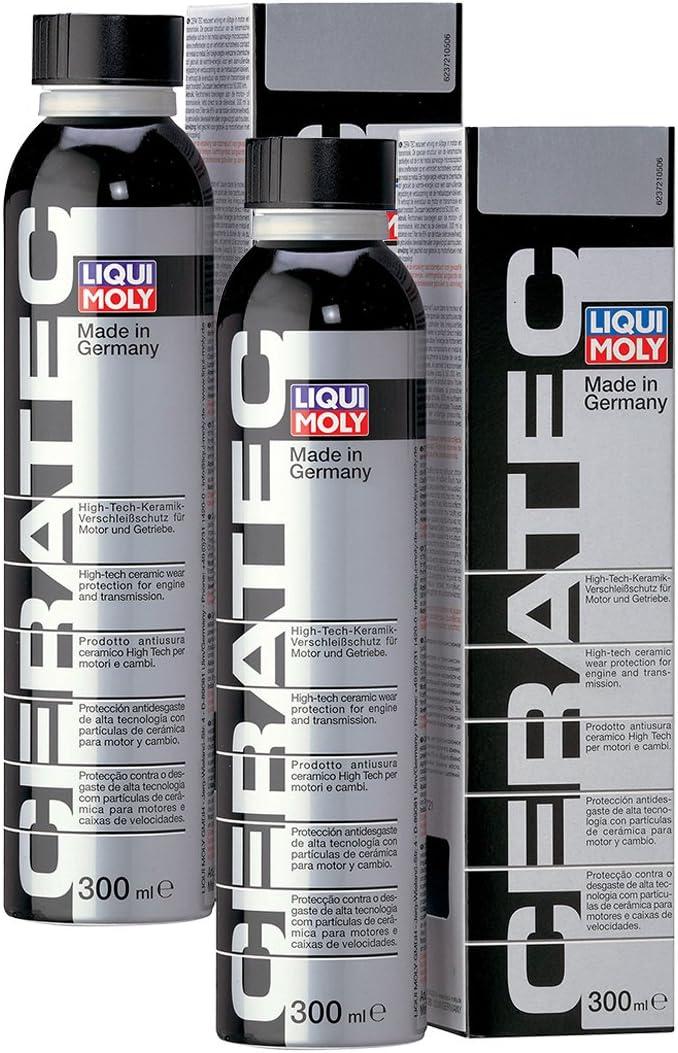 2 paquetes de producto antidesgaste Ceratec Liqui Moly para tratamiento cerámico, para motores, 300 ml