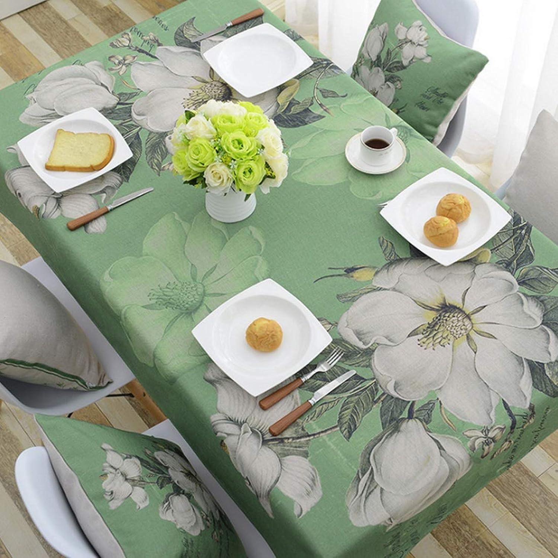 ahorra hasta un 70% MAGAI Cubierta de Tabla del rectángulo Simplemente del Mantel del del del algodón para la Cena de Boda del día de Fiesta del Partido, Flor verde (Talla   140  140)  distribución global