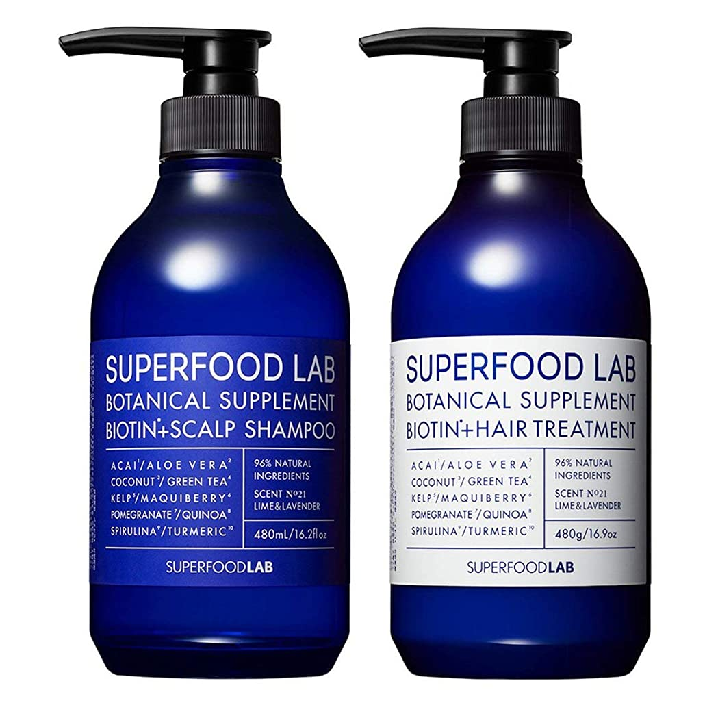 見かけ上パンサー無礼にSUPERFOOD LAB BIOTIN + SCALP SHAMPOO & TREATMENT