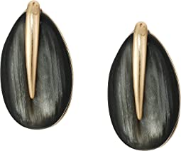Teardrop Stone Clip-On Earrings
