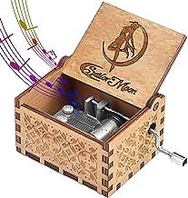 Funmo - Caja de música de madera de Sailor Moon Tune Hand Crank, regalos populares para Serena Tsukino Funs