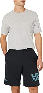 Under Armour mens Tech Wordmark Shorts Lightweight and Breathable Running Shorts, Comfortable and Quick-drying Gym Wear Wi...