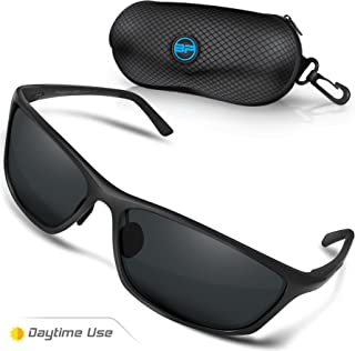 Polarized Driving Sunglasses for Men/Women - TAC HD Vision Anti Glare Lens - Unbreakable Metal Frame - Rally