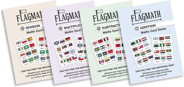 FlagMath  Set of 4 Mathematics Card Game