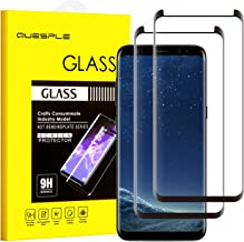 QUESPLE Galaxy S8 Screen Protector [2 Pack], [9H Hardness][Anti-Scratch][Anti-Bubble] [High Definition] [Ultra Clear] Tempered Glass Screen Protector Film Compatible with Samsung Galaxy S8