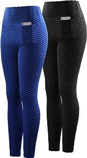 Women's Scrunch Butt High Waist Yoga Pants Tummy Control Running Workout Leggings with Pocket