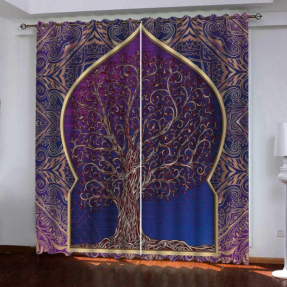 Eyelet Blackout Thermal New Shipping Free Insulated Abstract Retro Curtains, Seasonal Wrap Introduction
