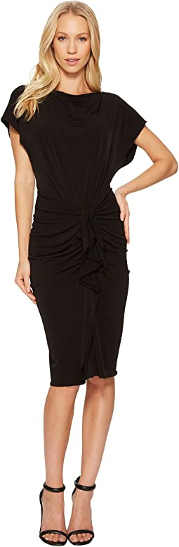 CATHERINE Catherine Malandrino - Boat Neck Sheath with Tie Waist