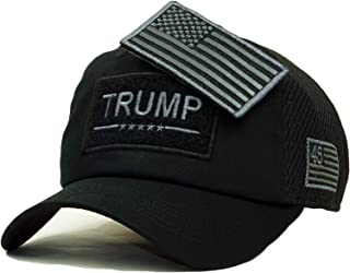 Trump USA Patch Detachable Embroidery Hat 45th President Campaign Baseball Cap