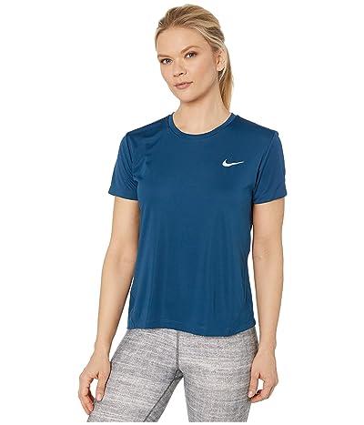 Nike Miler Top Short Sleeve (Valerian Blue/Reflective Silver) Women