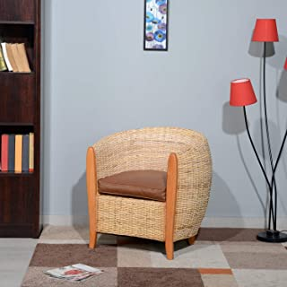 @home By Nilkamal Sophie Occassional Chair (Walnut), Standard