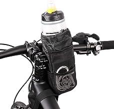 Luiryare Isolierte Fahrrad-Wasserflaschenhalter-Tasche mit Seitentaschen, stabiler Klettverschluss für Fahrradlenker, Getränkehalter für Mountainbike, Kinderwagen, Rollstuhl, Kinderwagen